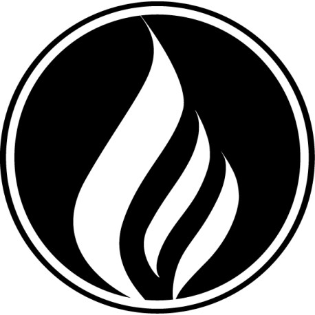 Pegatina icono fuego