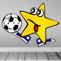 Vinilo estrella futbolística