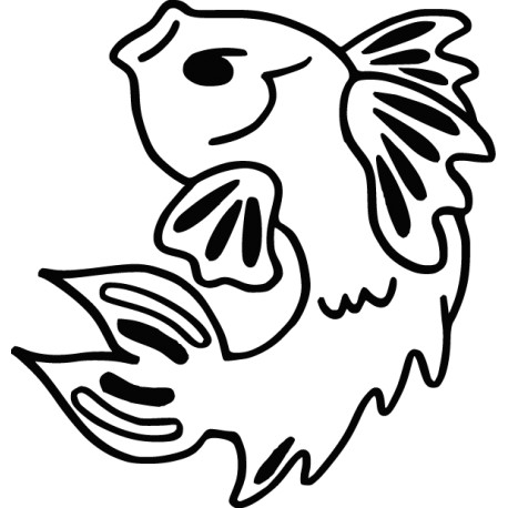 Vinilo icono pescado