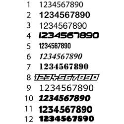 Número Dorsal en adhesivo