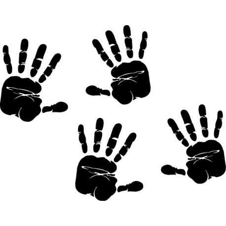 pegatina huellas manos