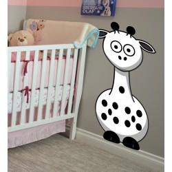 Vinilo infantil jirafa blanca