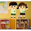 Vinilo niños colegio