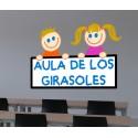 Vinilo niños aula personalizado
