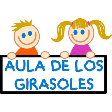 Vinilo infantil niños aula personalizado