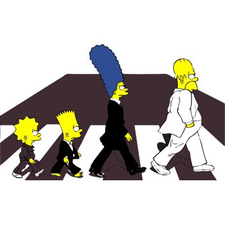 pegatina Los Simpsons Abbey Road