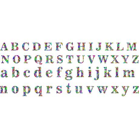 Vinilo abecedario geométrico