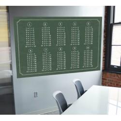 Vinilo tabla de multiplicación