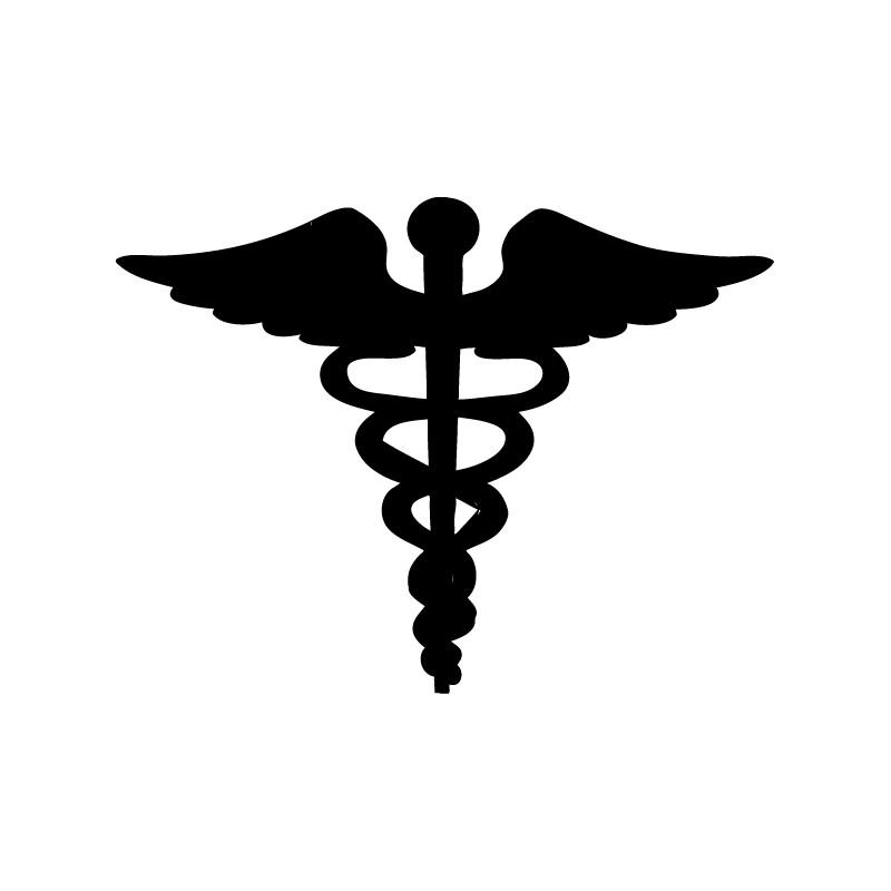vinilo logo medicina - serpiente