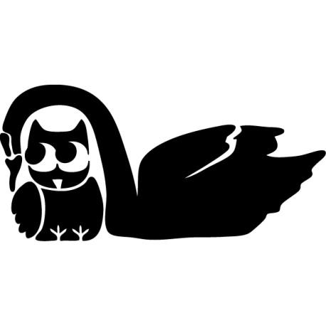 Vinilo decorativo cisne y ave