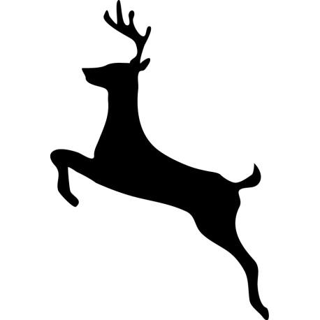 Vinilo animal reno saltando