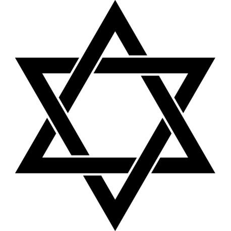 Vinilo cruz judía