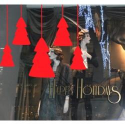 Vinilo escaparate árbol de navidad