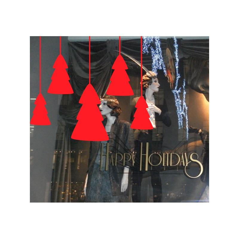 Vinilo escaparate rbol de navidad - Vinilos de arboles ...