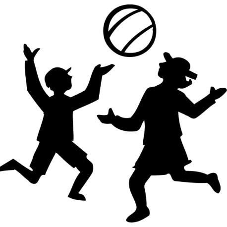 Vinilo niños jugando