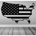 Vinilo bandera mapa USA