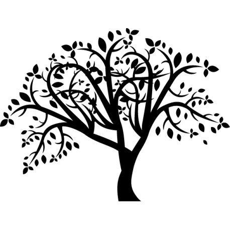 Vinilo decorativo árbol ramas