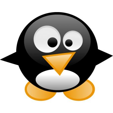 Pegatina portatil pinguino