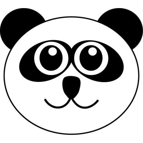 Vinilo infantil cara panda