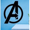 Vinilo logo Avengers