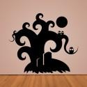 Vinilo árbol Halloween