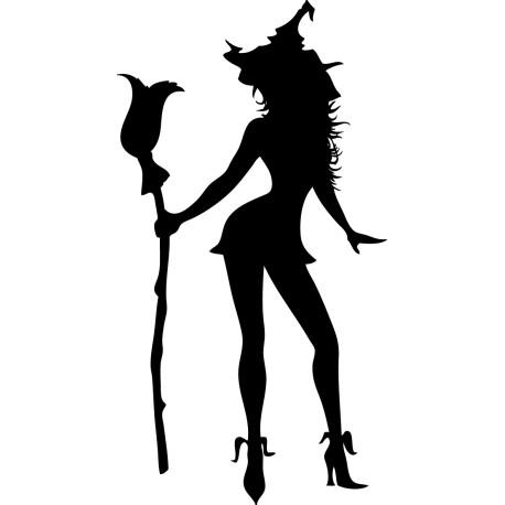 Vinilo decorativo Halloween chica sexy