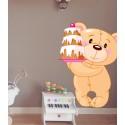 Vinilo infantil osito pastel