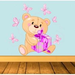 Vinilo osito regalo