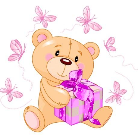 Vinilo infantil osito regalo