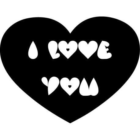Adhesivo corazón i love you
