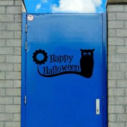 Vinilo Halloween gato negro