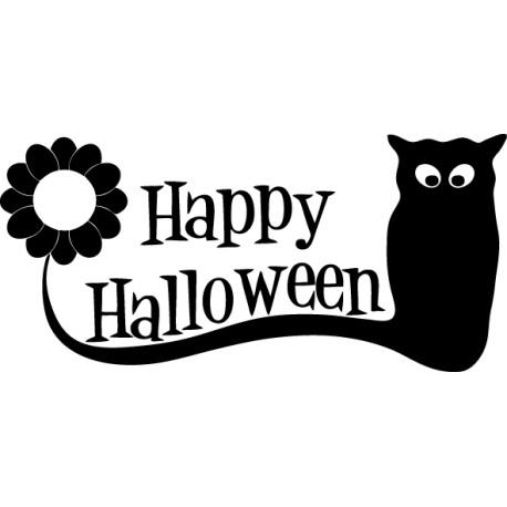 Adhesivo Halloween gato negro