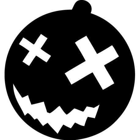 Adhesivo Halloween calabaza siniestra