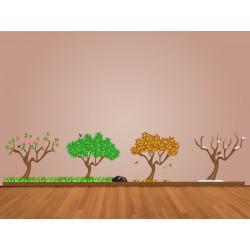 Vinilo árboles estaciones