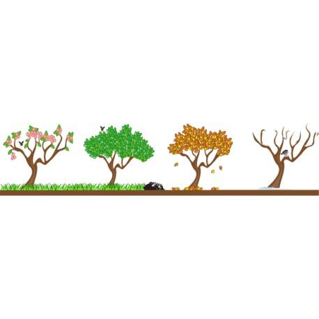 Vinilo decorativo árboles estaciones