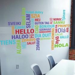 Vinilo Hola idiomas