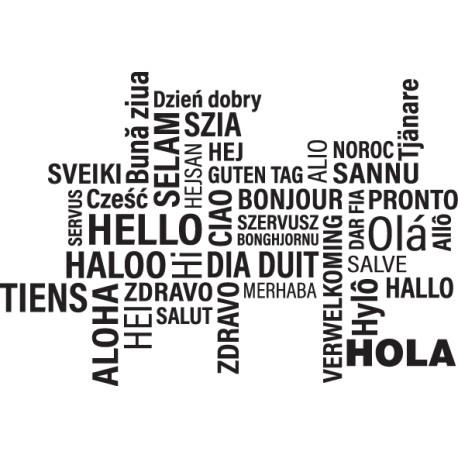 Vinilo decorativo textos Hola