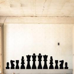 Vinilo piezas de ajedrez