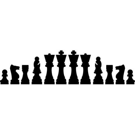 Vinilo decorativo piezas de ajedrez