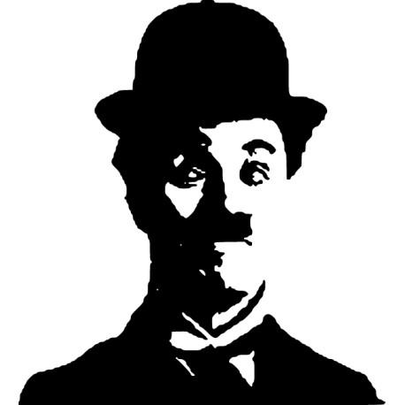 Vinilo decorativo cara Chaplin