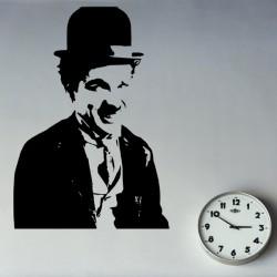 Vinilo ilustración Chaplin