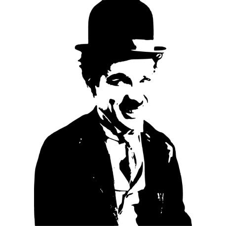Vinilo decorativo ilustración Chaplin