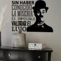 Vinilo frase lujo Chaplin