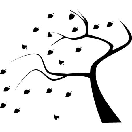 Vinilo árbol otoño