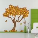 Vinilo árbol hojas otoño