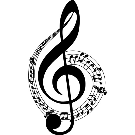 Vinilo Clave De Sol Musical