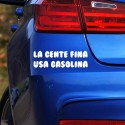 Pegatina frase gasolina