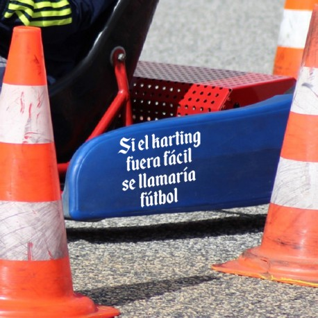 Vinilo Frase Karting