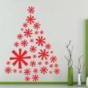 Vinilo árbol Navidad estrellas