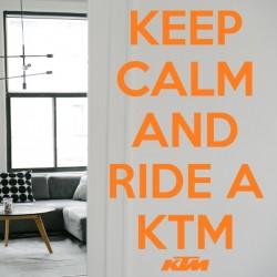 Vinilo Keep Calm KTM